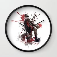 lebron Wall Clocks featuring LeBron 6 by Asta Dagmar