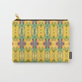 Vintage African Yellow Dynamic Pattern Carry-All Pouch