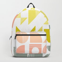 Organic Abstract Shapes in Soft Pastel Colors Backpack