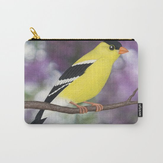 American goldfinch male bokeh Carry-All Pouch