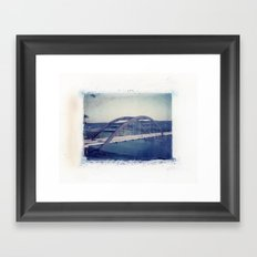 360 Bridge Polaroid Transfer Framed Art Print