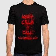 Keep Calm & Call Daryl Dixon!!! Black MEDIUM Mens Fitted Tee