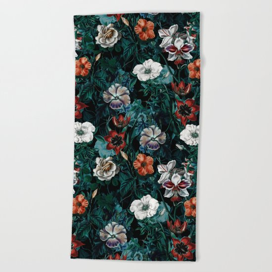 NIGHT FOREST XXI Beach Towel