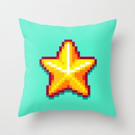 Pixel Star Throw Pillow