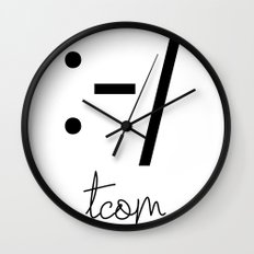 CROOKED SMILE Wall Clock