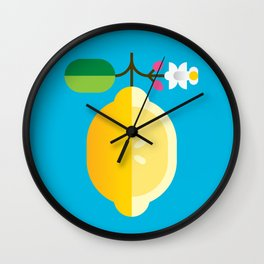 Fruit: Lemon Wall Clock