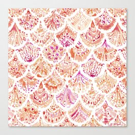 UNDERTOW Coral Mermaid Scales Canvas Print