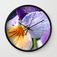 sparkly pansy  Wall Clock