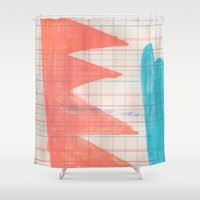 crown Shower Curtains featuring CROWN by Becca Brooks Morrin