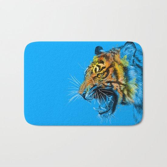 Tiger Roaring Wild Animal Roar Bath Mat