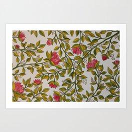 prickly pinks Art Print
