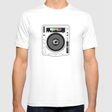 1 kHz #12 Mens Fitted Tee White MEDIUM