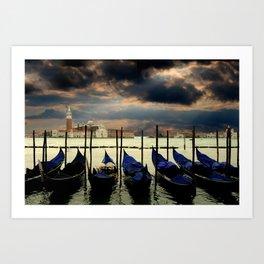 Gondolas on Venice's Grand Canal Art Print