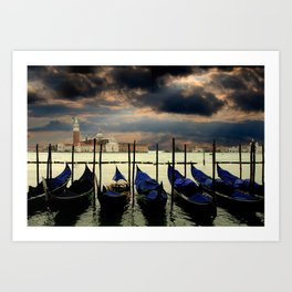 Gondolas on Venice's Grand Canal Art Print