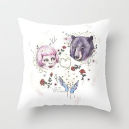 The Stars Fell Into My Hands Throw Pillow