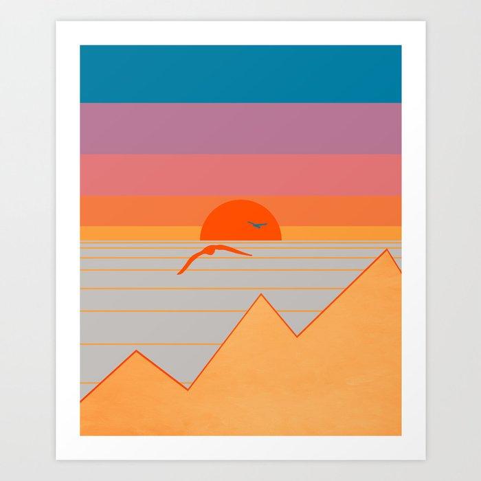 Minimal Sunset 17 Art Print