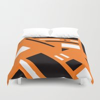 broadway Duvet Covers featuring 7av. Broadway by Michal Gorelick