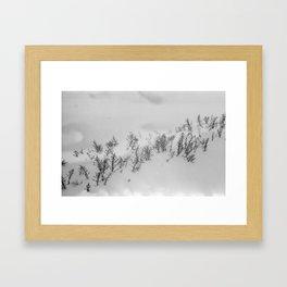 Snow Etching Print Framed Art Print