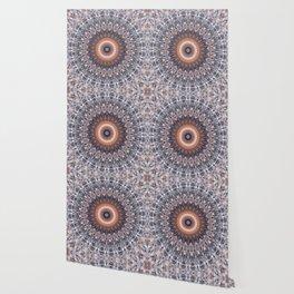Warm center of ice crystal mandala Wallpaper