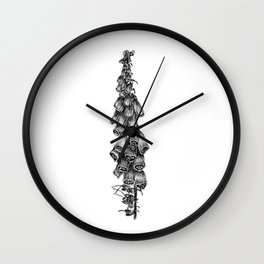 Fox Glove Wall Clock