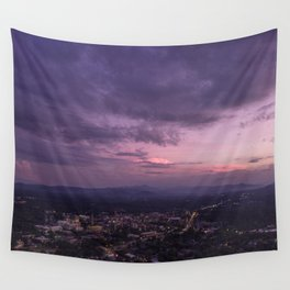 Asheville Stormy Nights Passing By Wall Tapestry