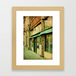 Keep Portland Green Framed Art Print