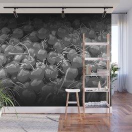 cherries pattern reaclibw Wall Mural