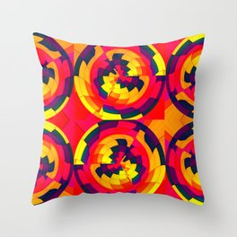 Geometry in abstract Throw Pillow