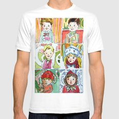 Christmas Cousins Mens Fitted Tee MEDIUM White