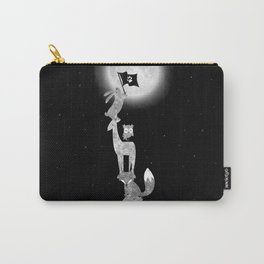 Conquering The Moon - black and white Carry-All Pouch