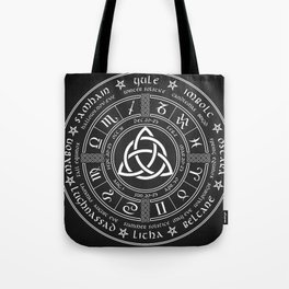 Triquetra Pagan Wheel Of The Year Tote Bag
