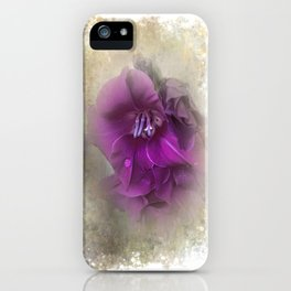 Purple Gladiolas iPhone Case