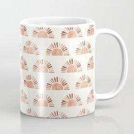 block print suns - multi colored terra cotta Coffee Mug