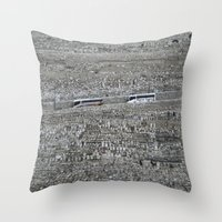 palestine Throw Pillows featuring Jerusalem Palestine by Sanchez Grande