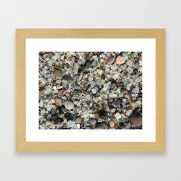 Sea glass beach in Fort Bragg Framed Art Print