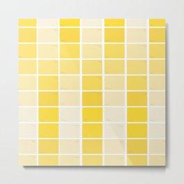 paintchips yellow Metal Print
