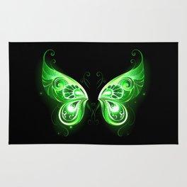 Green Fairy Wings Rug