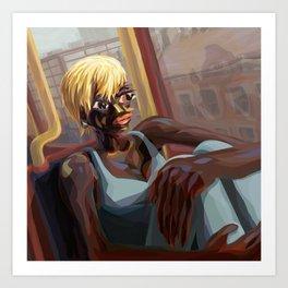 Burnt Sienna Commute Art Print