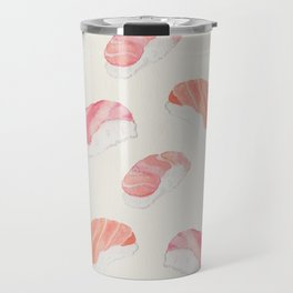 Watecolor Nigiri Sushi Pattern Travel Mug
