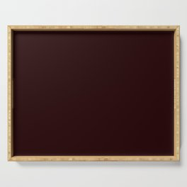 Delirious Place ~ Dark Red-brown Serving Tray