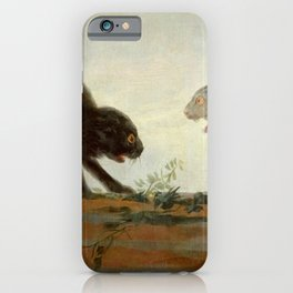 """Francisco Goya """"Cats fighting"""" iPhone Case"""