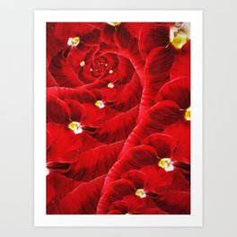 Floral Vortex. Art Print