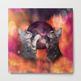 The Silver Marble Oracle Kitty Cats of the Kittyverse Metal Print