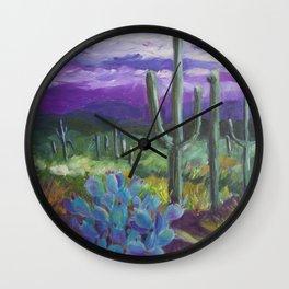 Dusk in the Desert Wall Clock