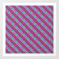 Popping Pez Pattern Art Print
