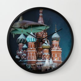 Moscow under the water Wall Clock
