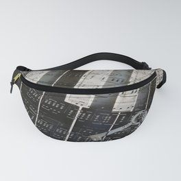 Piano Keys black and white - music notes Fanny Pack