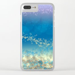 Abstract Seascape 03 wc Clear iPhone Case