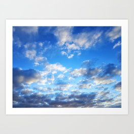 Fluffy Clouds Art Print