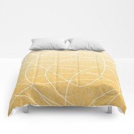 Scribble Linen - Sunflower Yellow Comforters
